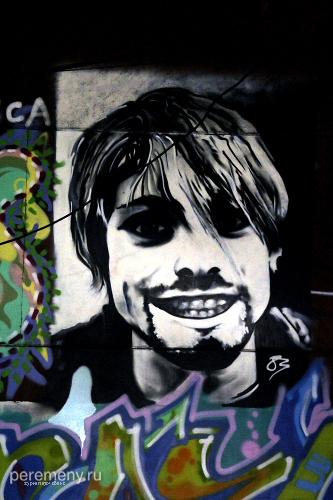 Курт Кобейн. Граффити на винзаводе.