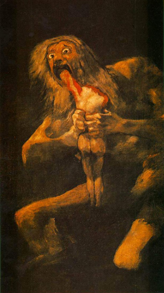 """Saturn Devouring One of his Sons"" by Francisco Goya."