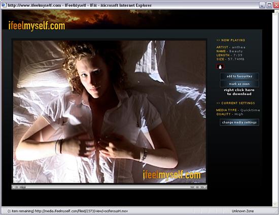 Printscreen from IfeelMyself website!