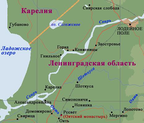 Рыбалка в Ленинградской области на реке Оять