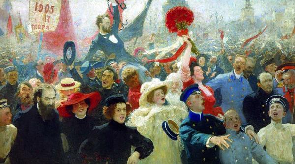 Илья Репин. 17 октября 1905 года. Тоже в своем роде революция пиздатых шуб