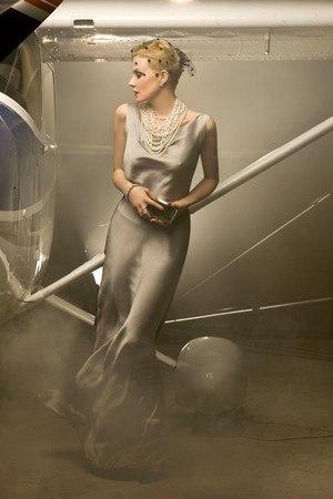 Рената Литвинова в платье из собственной коллекции