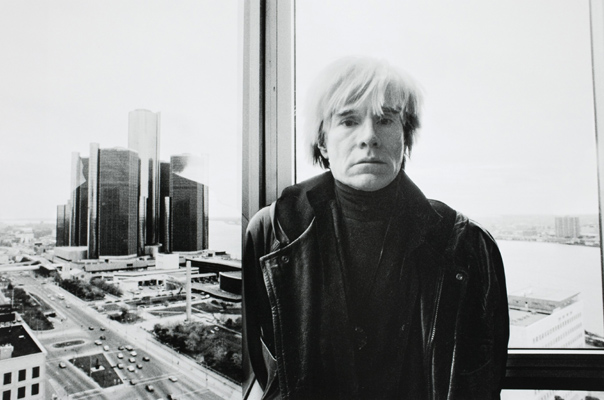 Andy Warhol in Detroit, 1985. (Photograph by Michelle Andonian)