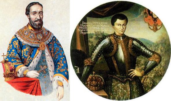 Слева Федор Романов, справа Лжедмитрий 1
