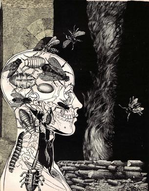 Иллюстрация Адольфа Хоффмейстера к Песням Мальдорора