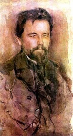 Портрет Чехова работы Серова