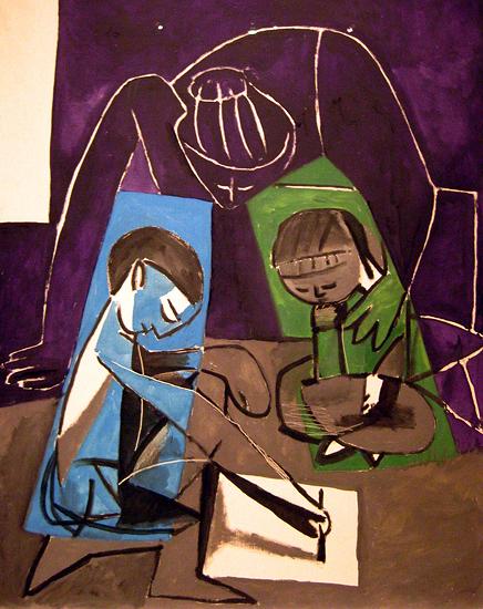 Клод, рисующий Франсуазу и Палому
