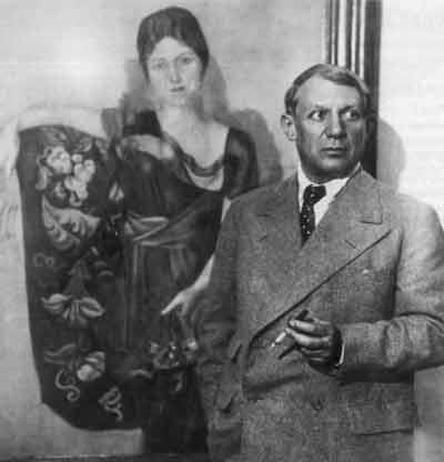 Пикассо и Ольга в кресле
