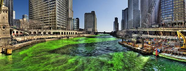 Чикаго, день святого Патрика 2009