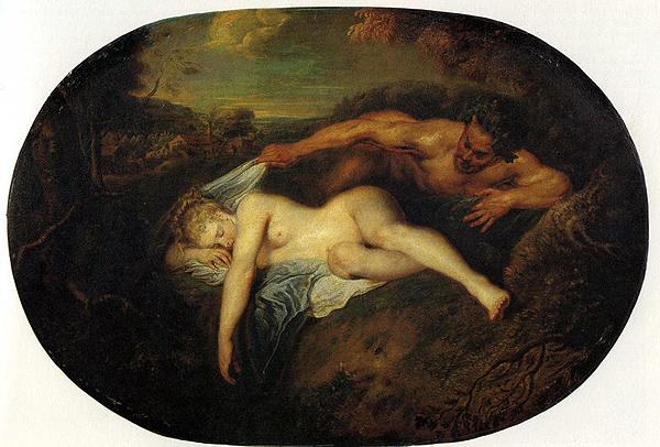 "Antoine Watteau ""Jupiter und Antiope"". Картина, попавшая на обложку оригинального издания ""Парфюмер"""