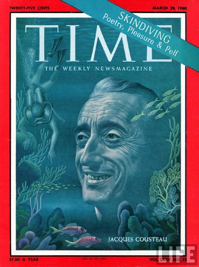 Кусто, обложка журнала Time