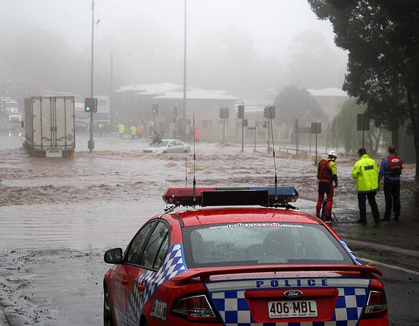 Наводнение в Австралии. Репортаж