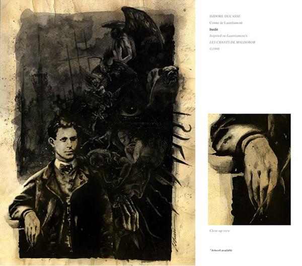 Изидор Дюкас, граф Лотреамон, иллюстрация Alejandro Colucci