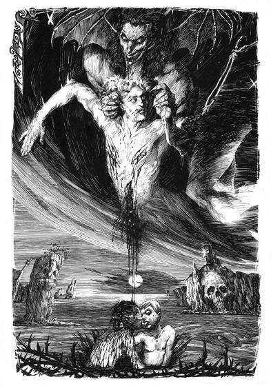 Иллюстрация Энрике Короминаса к Песня Мальдорора