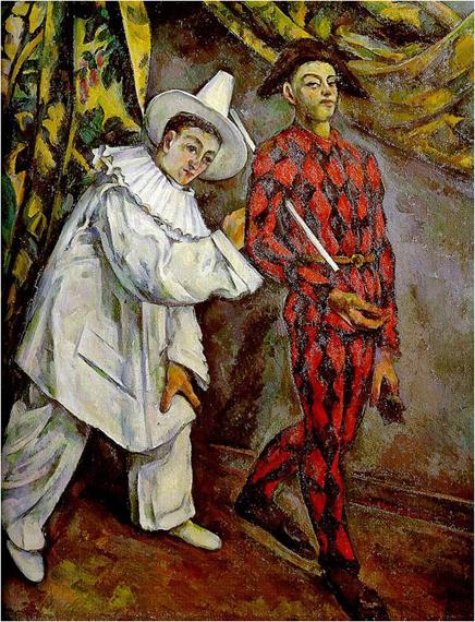 Сезанн. Пьеро и Арлекин («Масленица»). 1888