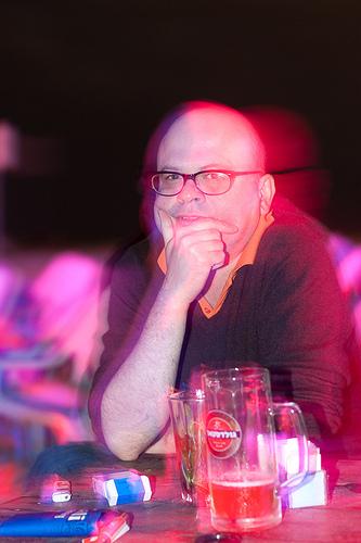 Дмитрий Бавильский в Тель Авиве. Фото из ЖЖ reesiideent