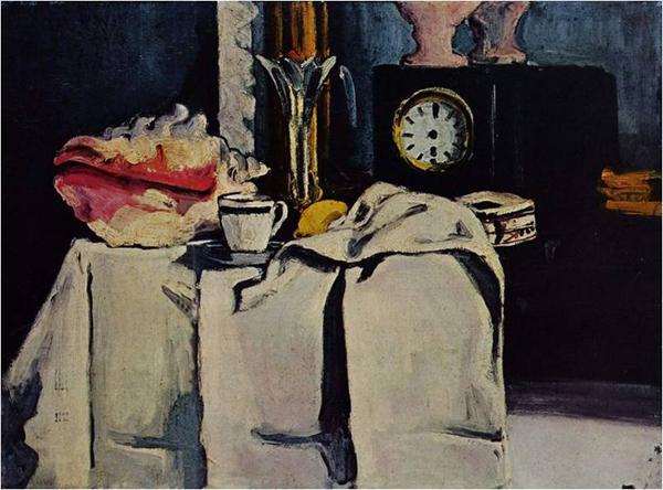 Сезанн. Черные мраморные часы. 1869-71