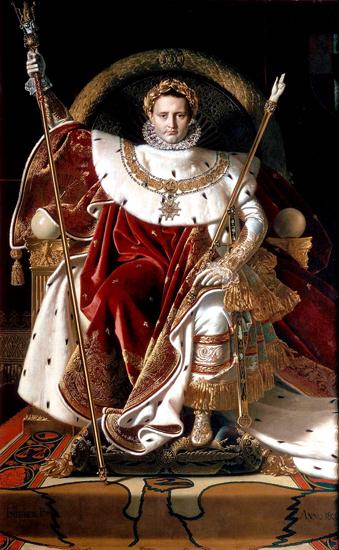 Жан Огюст Доминик Энгр. Наполеон на императорском троне