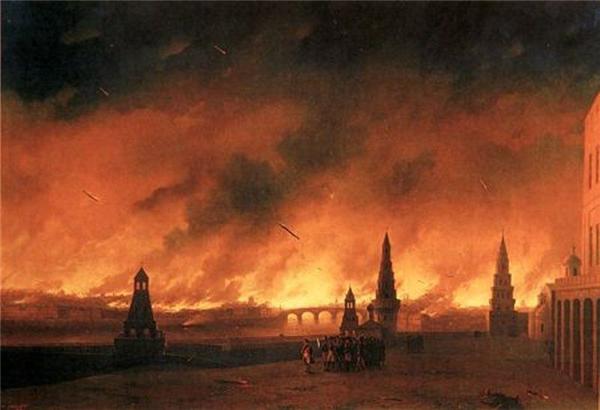 Иван Айвазовский. Пожар Москвы в 1812 году