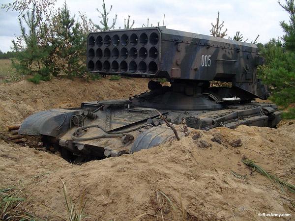 Тяжелая огнеметная система ТОС-1 Буратино. Источник: Rusarmy.com