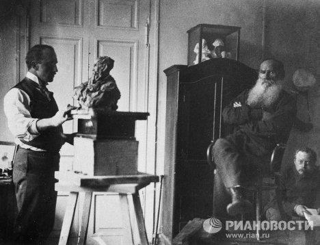 Трубецкой работает над Толстым