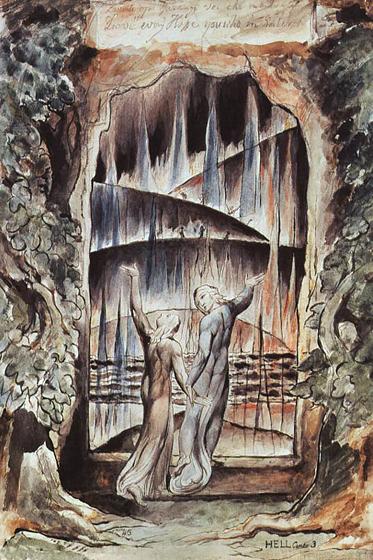 Данте и Вергилий у врат ада 1827