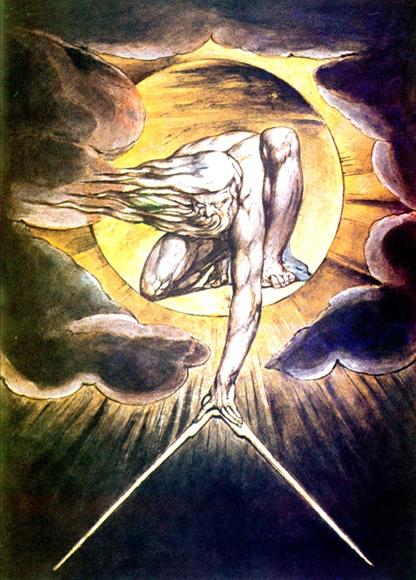 Уильям Блейк. Древнейший из дней (альтернативное название - Бог-архитектор, 1794 г.)