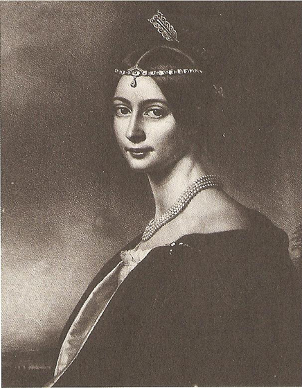 Эрн. Ф. Тютчева, 1833.  Художник Й. Штиллер