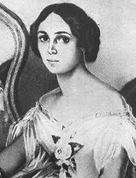 Е. А. Денисьева. Акварель Иванова. Петербург, 1851