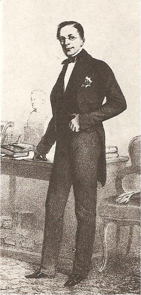 Александр Горчаков. Литография А. Мюнстера.
