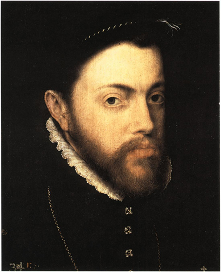 Philip II, Antonis Mor, c. 1555-8 (Museo del Prado, Madrid).