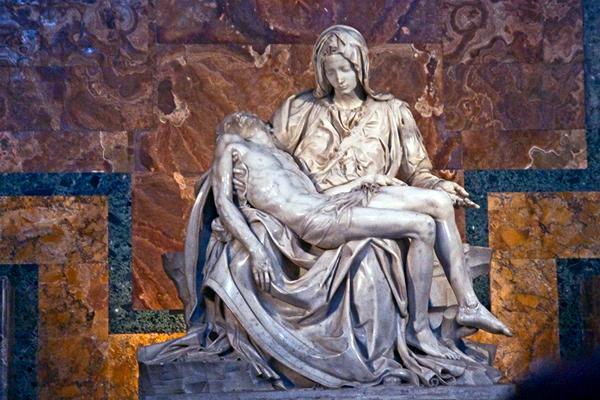 Пьета. Микеланджело Буонарроти, 1499. Собор Св. Петра
