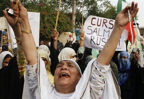 Выступления мусульман против Салмана Рушди