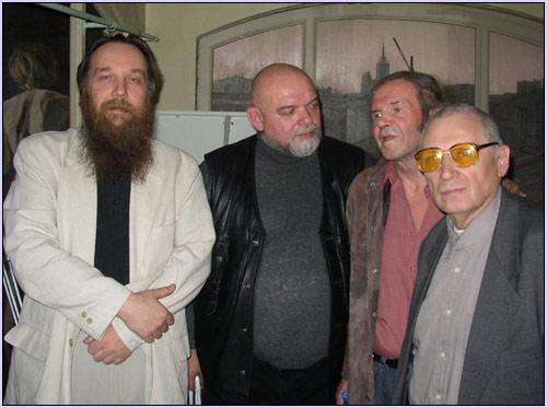 Александр Дугин, Гейдар Джемаль, Евгений Головин и Юрий Мамлеев