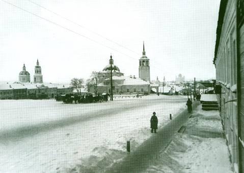 С.Лобовиков. Старая Вятка  (ул.Воскресенская, ныне ул.Ленина).