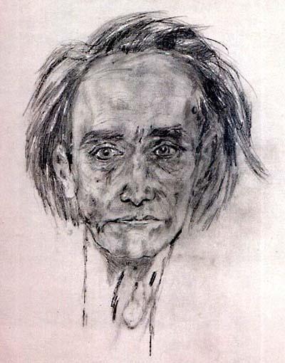 Антонен Арто Автопортрет, 1946 г.