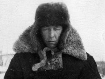 Александр Солженицын в ссыльном поселении в Казахстане. Зима 1954-55 годов
