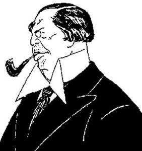 Граф А.Толстой. Шарж Д.Мельникова. Первая половина 1910 г.г.