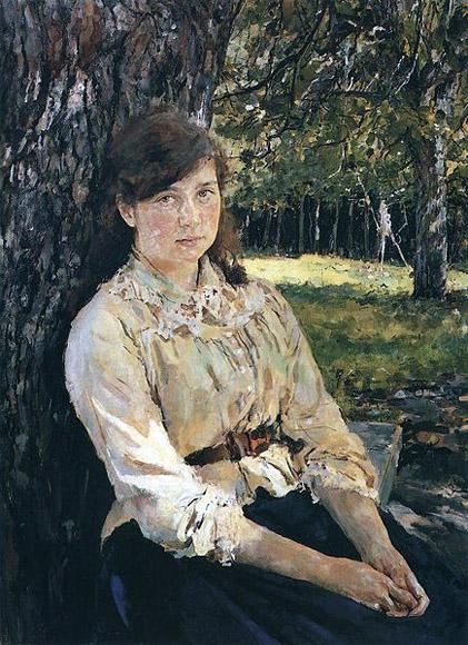 """Портрет Маши Симонович """"Девушка, освещённая солнцем"""", 1888"""