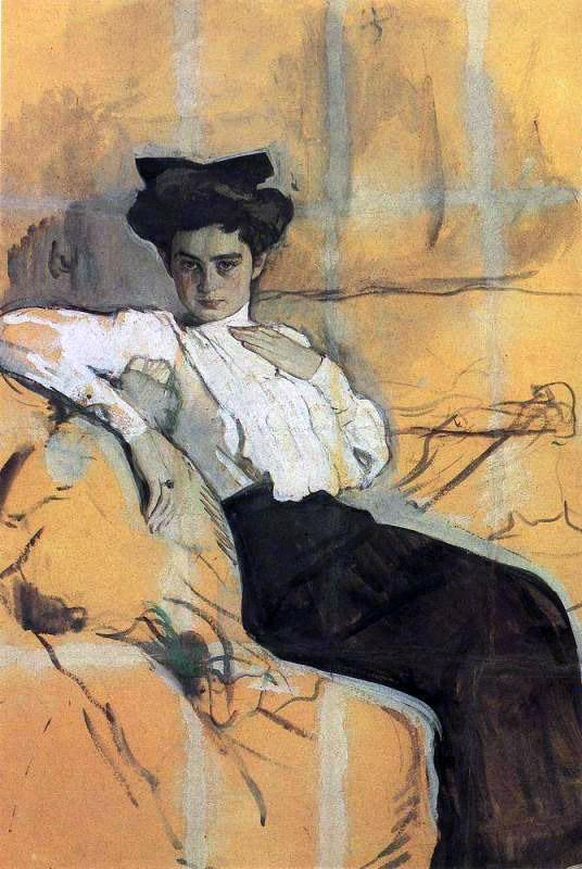 Один из первых портретов Гиршман. 1906