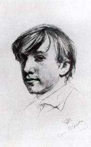 В.Серов. Автопортрет. 1881