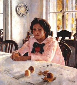 Девочка с персиками. 1887 г.