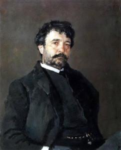 Портрет итальянского певца Анджело Мазини. 1890 г.