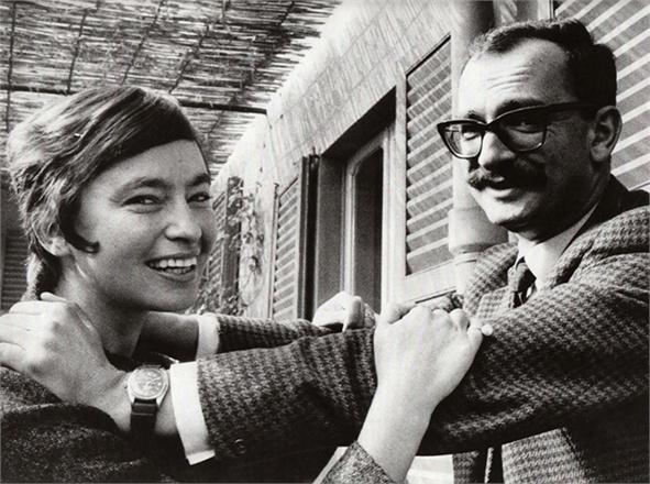 Джанджакомо Фельтринелли с женой Инге Шенталь-Ф.