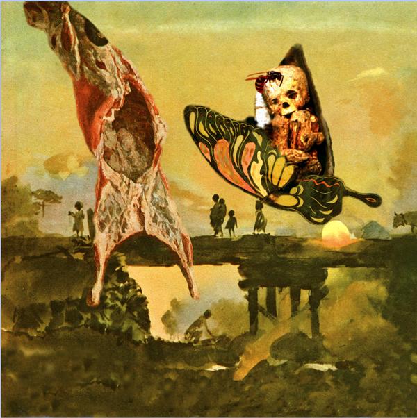 Коллаж Яна Никитина для обложки альбома «Хруст ос. Кирзовый цветок», 2004 г.