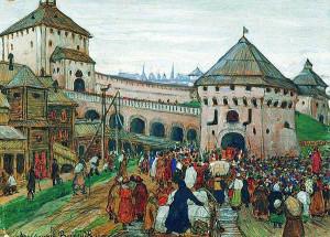 А.Васнецов. Старая Москва. 1896
