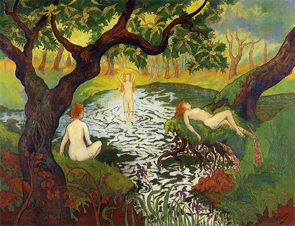 Поль Рансон. Три купальщицы среди ирисов. 1900