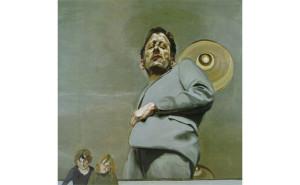 Люсьен Фрейд. Отражение с двумя детьми. Автопортрет. 1965
