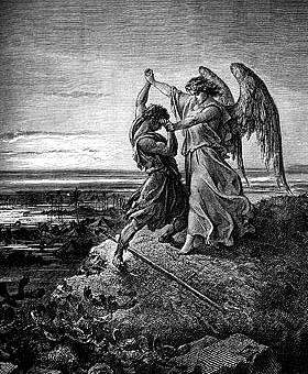 Гюстав Доре, Борьба Иакова с Ангелом