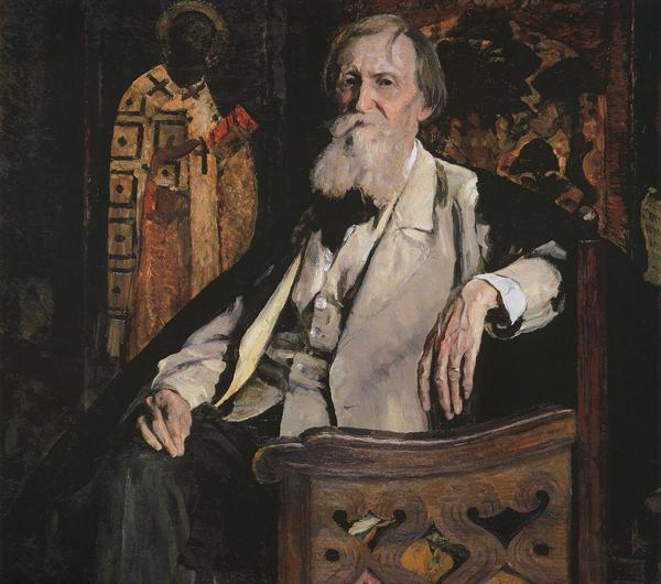 М.Нестеров. Портрет В.М.Васнецова. 1925